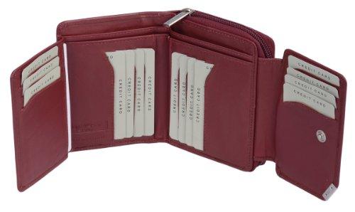 Portafoglio Donna LEAS, Vera Pelle, vermiglio - ''LEAS Smart-Edition''