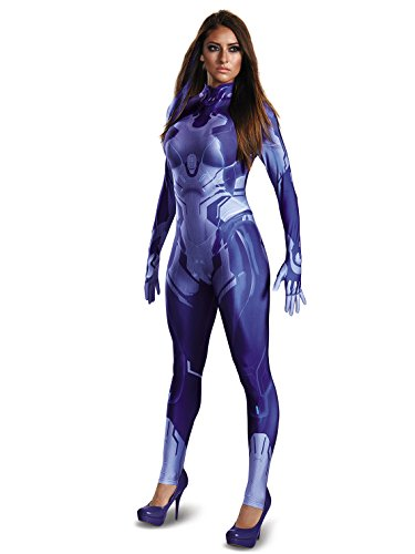 Disguise Women's Halo Cortana Adult Bodysuit Costume, Blue,