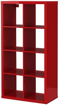 IKEA Kallax – Estantería – Alto Brillo Rojo: Amazon.es: Hogar