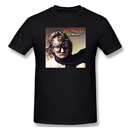 KisdFinda Joe Walsh Summer Men's Fashion Personality Print Short Sleeve T-Shirt Black (T-shirt Walsh Classic)