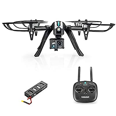 Altair Tomahawk Long Range Drone with Camera, Long Flight Time Drone Includes 720p Camera 17 Minute flight Time, Altitude Hold, GoPro Compatible, RC Quadcopter Great for Kids & Adults from ALTAIR INC