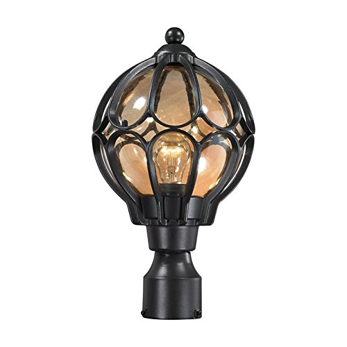 Elk-Lighting 87024/1 1-Light Outdoor Pos - Series Black One Light Post Shopping Results