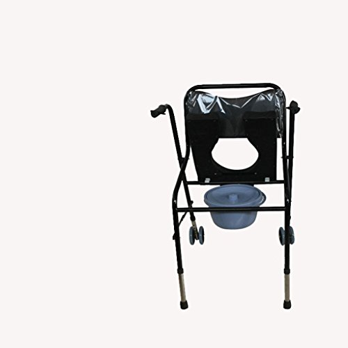 Walker Is Adjustable Walking Aid Aluminum Alloy Walker Telescopic Wheelchair Walker Bedside Commode Medical Products by jiaminmin