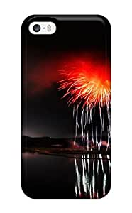 Fashion Tpu Case For Iphone 5/5s- Fireworks Over Lake Defender Case Cover