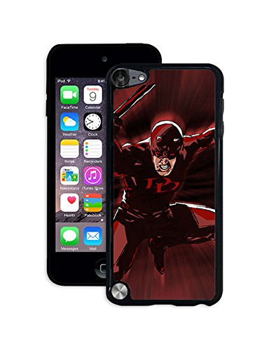 Marvel Comic Hero Ipod Touch 5th Case Daredevil Ipod Touch 5th Case Cartoon for Guy, Personalized Solid Phone Accessory Case for Ipod Touch 5th
