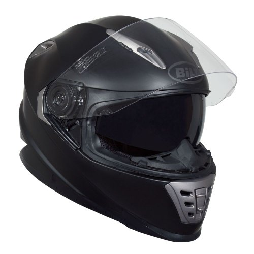 BILT Raptor Full-Face Motorcycle Helmet - LG, Matte Black