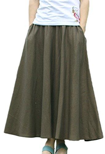 Soojun Womens Cotton Vintage Skirts