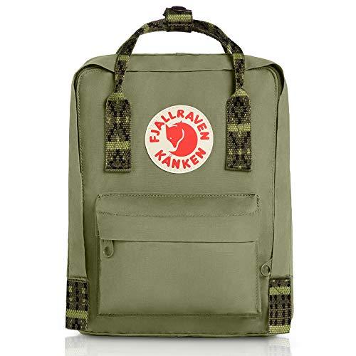 (Fjallraven - Kanken Mini Classic Backpack for Everyday, Green-Folk Pattern )