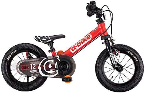 アイデス D-Bikemaster (ディーバイクマスター) 12 EZB(イージービー) レッド ペタルレスバイク→自転車へ5秒で切り替え 「イージーブレーキ」搭載