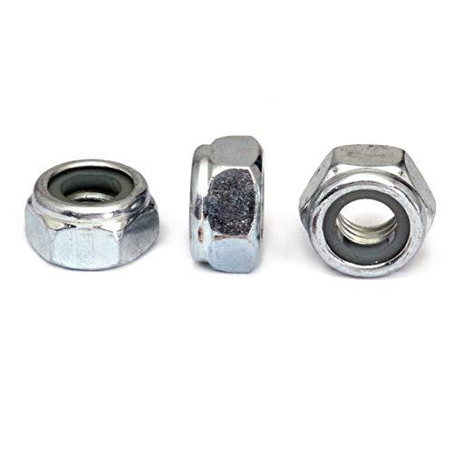 - (10) M6 x 1.00 Zinc Nylon Insert Hex Lock Nuts, Metric Coarse DIN 985 Class 10 Steel Cr+3 RoHS - MonsterBolts (10, M6 x 1.00)
