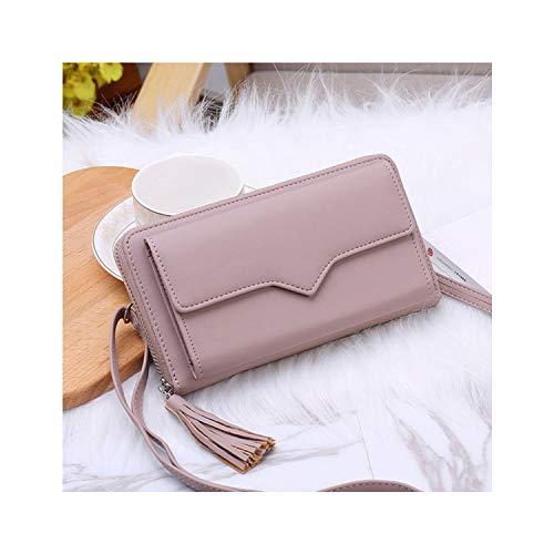 Fashion New Women Bags Large Capacity Tassel Pu Leather Women Wallet Small Incense Wind Chain Lozenge Shoulder Bag,Purple,Russian ()