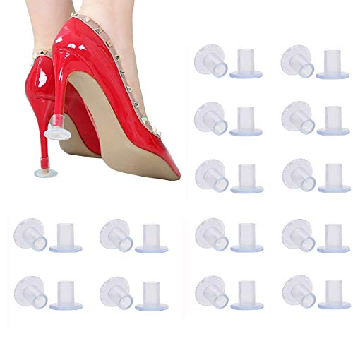 30 Pairs Clear High Heel Protectors for Shoes, Stoppers for Walking on Grass, Small/Middle/Large