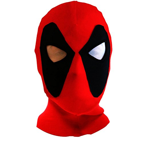 Halloween mask Cosplay Costume Lycra Spandex Mask Red/Black Adult sizes