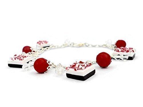 Polymer Clay Christmas Charms.Amazon Com Christmas Charm Bracelet With Polymer Clay