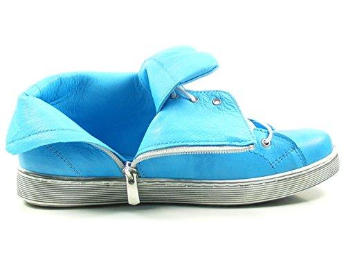 Mujer Cuero Conti Andrea Turquesa de para 0341500 Zapatos YvBYHnxC