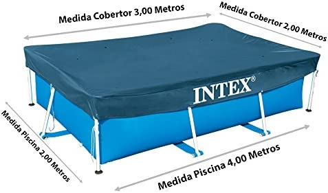 Intex 28038 - Cobertor piscina rectangular Prisma/small frame 300 ...