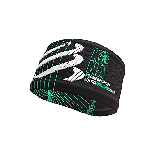 CINTA COMPRESSPORT HEADBAND KONA NEGRO VERDE 17