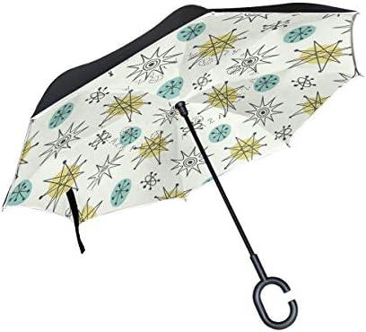 1950S Paraguas atómico Vintage Reversible invertido para Mujeres y ...