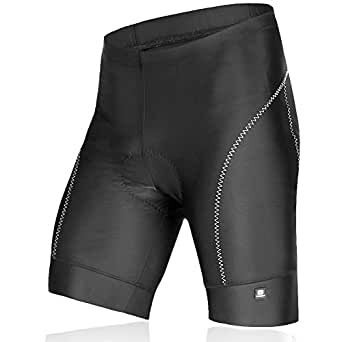 LAMEDA Bicycle Shorts, Gel Padded Bike Shorts for Men Black Small