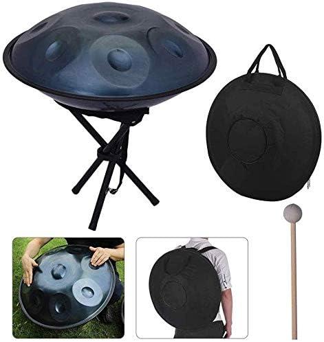AQAWAS スチールドラム、プロ ドラムポット 打楽器、10注スチール 合金 マレット付き 吊りドラム、屋内ヨガ瞑想,B