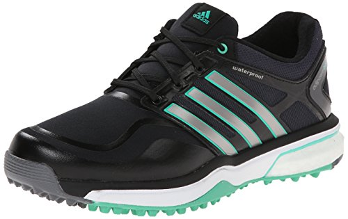 adidas Golf Women's Adipower Sport Boost, Black/Dark Silver Metallic/Bright Green, 5 B - Medium