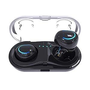 AUKEY Auriculares Bluetooth 4.1 Impermeable 5 grado Estéreo Inalámbrico para Smartphones iPhone, Samsung, HTC, etc. ( EP-B14 Negro )