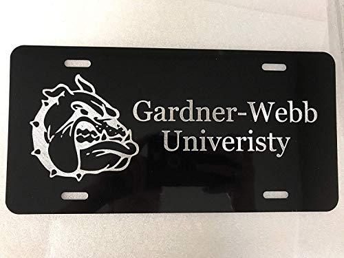 Chik yx Gardner-Webb Bulldogs Logo Car Tag on Aluminum License Plate