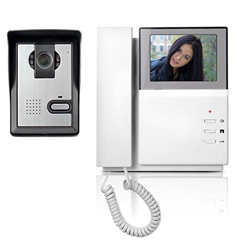 "Video Doorbell Phone, YOKKAO Video Intercom Monitor 4.3"" Door Phone Home Security Color TFT LCD HD Wired for House Office (Video Door Intercom System)"
