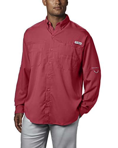 Columbia Men's Tamiami II Long Sleeve Shirt, Sunset Red, Small