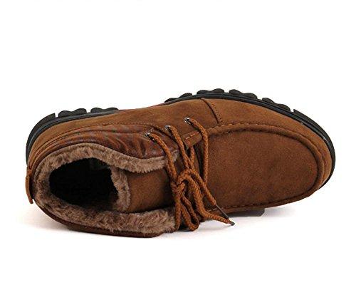 Coton chaud male hiver peluche coupe plus ¨¦paisse pour aider ¨¤ augmenter la taille des bottes de neige , camel color , 46