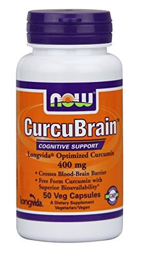 Now Foods Curcubrain Longvida 400 mg, 50 comte