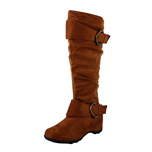 West Blvd Dhaka Knee High Riding Boots, Tan1 Suede, 9