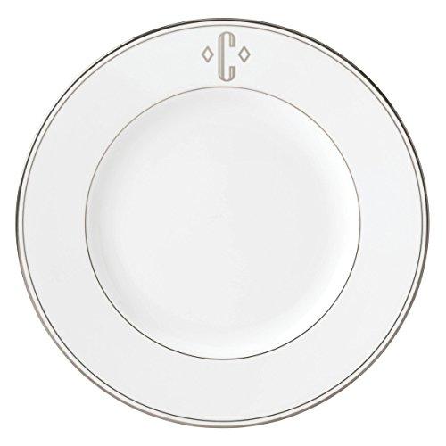 (Lenox Federal Platinum Block Monogram Dinnerware Dinner Plate, C)