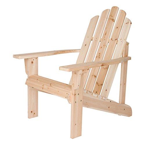 Shine Company Marina Adirondack Chair, Natural