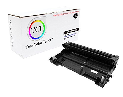 Blk Compatible Drum - TCT Premium Compatible Drum Unit Replacement for Dell 593-BBKE E310DR Black Works with Dell E310dw E514dw E515dn E515dw Printers (12,000 Pages)