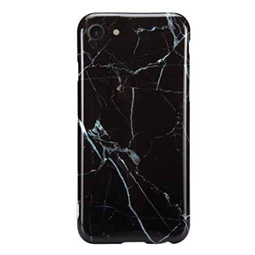 iPhone 7/iPhone 8 Case, Dteck Marble Design Clear Bumper Soft TPU Case Rubber Silicone Cover Phone Case for iPhone 7/iPhone 8 (4.7 inch)-Black Marble #F29