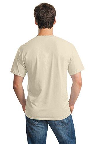 Uomo Tee Cotton Heavy Gildan Sabbia Maglietta Beige qa6BOI0wWE