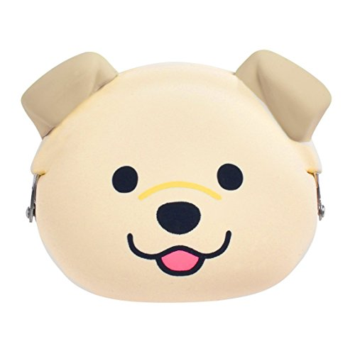 - P+G Design Mimi POCHI Friends Silicone Coin Purse, Golden Retriever - Cute Change Pouch for Money, Makeup and Hair Accessories - Authentic Japanese Design - Durable Quality