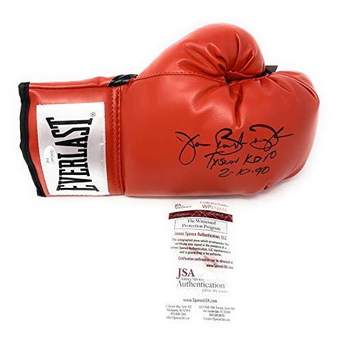 (James Buster Douglas Signed Autograph Boxing Glove TYSON KO Inscribed JSA Witnessed)