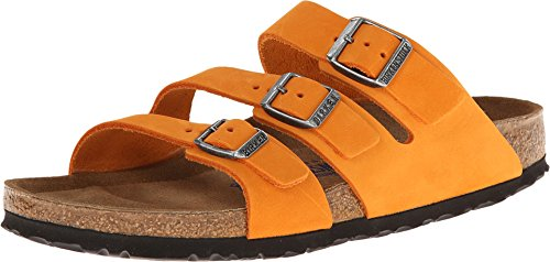 Birkenstock Women's Orlando Soft Footbed Orange Nubuck Sandal 40 (US Women's 9-9.5) Narrow