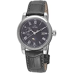Gevril Men's 2530 CORTLAND Analog Display Swiss Quartz Black Watch