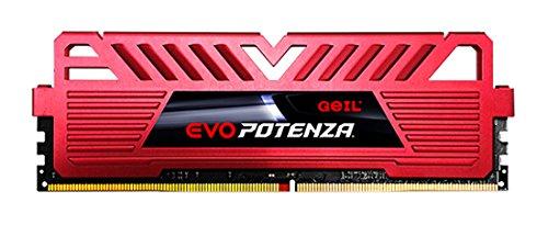 Evo Desktop Memory (GeIL EVO POTENZA 8GB (2 x 4GB) 288-Pin DDR4 SDRAM 2400 (PC4 19200) Desktop Memory GPR48GB2400C16DC)