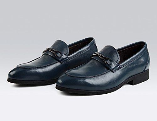 Zapatos Clásicos de Piel para Hombre Zapatos de cuero para hombres Zapatos ocasionales para negocios Zapatos de marea británicos ( Color : Vino rojo , Tamaño : EU39/UK6 ) Royal Blue
