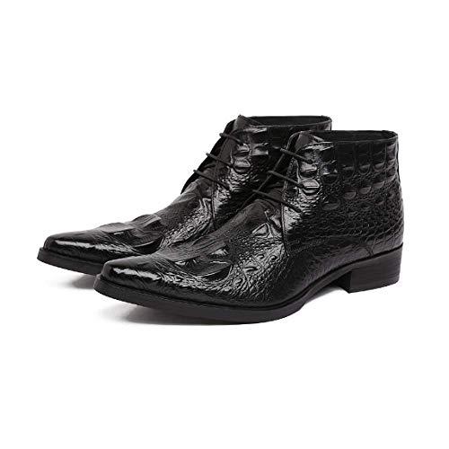 Pelle in all'Usura Scarpe Eleganti Europeo Americano Stile A Confortevoli Resistente Uomo Scarpe Personalizzato da Black Punta Goffratura E E CRw1wqB