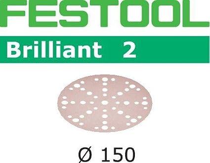 Festool 202460 Sanding Pad ST-STF D150/MJ2-M8-H-HT Fusion-TEC, Steel Grey, hart