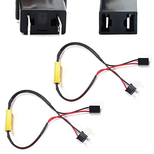 iJDMTOY Plug-N-Play Error Free Decoder Wiring Kit For H7 LED Bulbs on Fog Lights or Daytime Running Lights ()