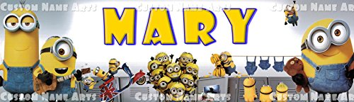 Personalized Despicable Me Minions Banner Birthday Poster Custom Name -