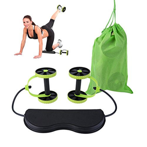 New Sport Core Double AB Roller Exercise Equipment, Professional Ab Wheel Roller Supports, Abdominal Workout Machine (Professional Ab Machine)
