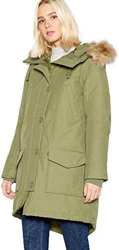 Levis Edith Parka 56349-0001 Jacket Large Deep Lichen Green