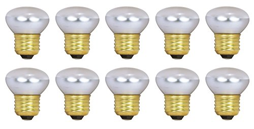Pack Of 10 40R14 Short Neck 40 Watt E26 Medium Base Reflector R14 Incandescent Light Bulb